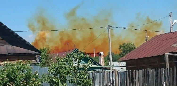 Жёлтый дым напугал жителей столицы Татарстана