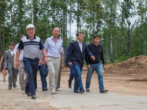 Мэр Казани проверил стройку микрорайона М-14