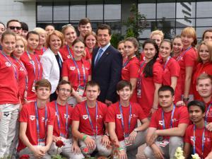 Мэр Казани провёл встречу с волонтёрами чемпионата FINA-2015