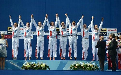 РФ пока занимает 2-ое место в FINA-2015