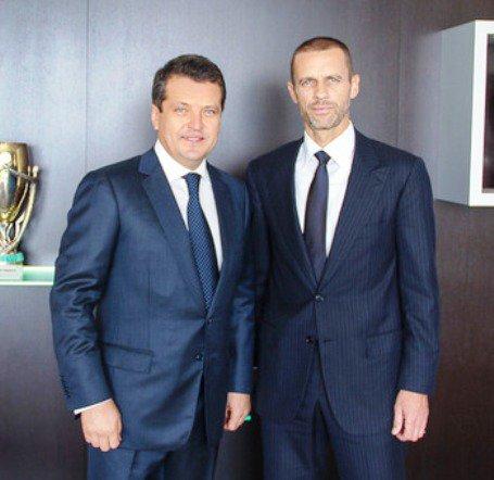 А. Чеферин, новый президент УЕФА, побывал в Казани с проверкой