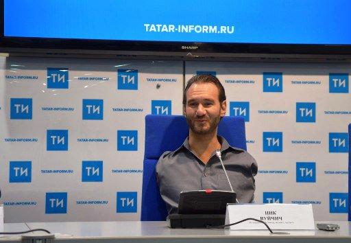 Н. Вуйчич рассказал казанцам о мотивации в жизни