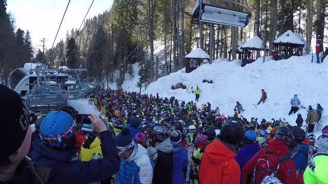Казанцы возмутились очередями на горнолыжном комплексе