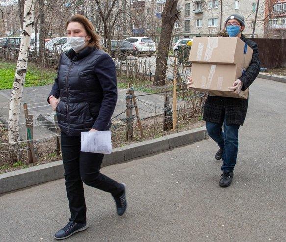 В период пандемии в Казани раздали  80 тыс. продуктовых наборов