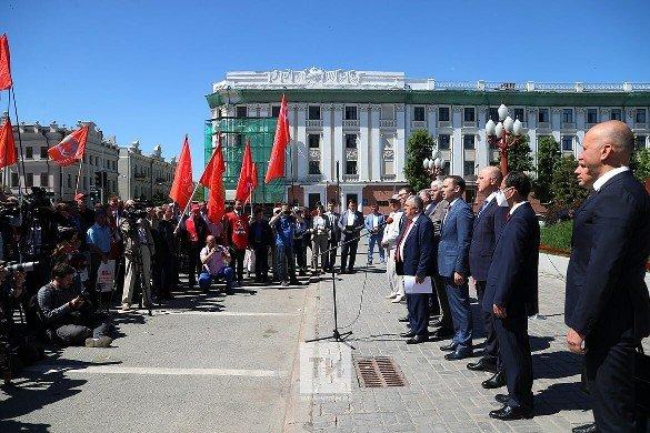 В Казани открыли памятник Ленину после реставрации