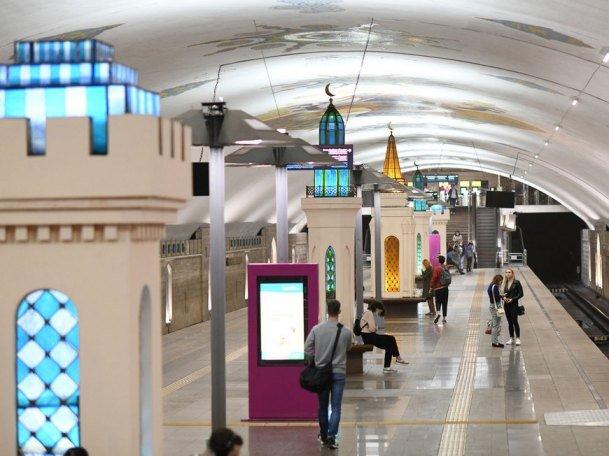 На ст. м. «Кремлевская» и «Площадь Тукая» появилось архитектурно-художественное освещение